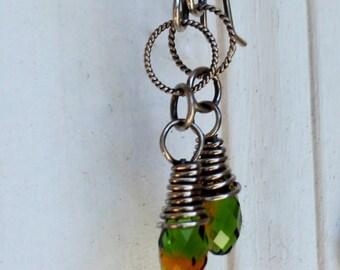 Sterling Silver Swarovski Briolette Earrings