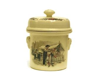 Foie Gras Terrine. Ceramic French Terrine. French Kitchen Canister. Ceramic Storage Jar.