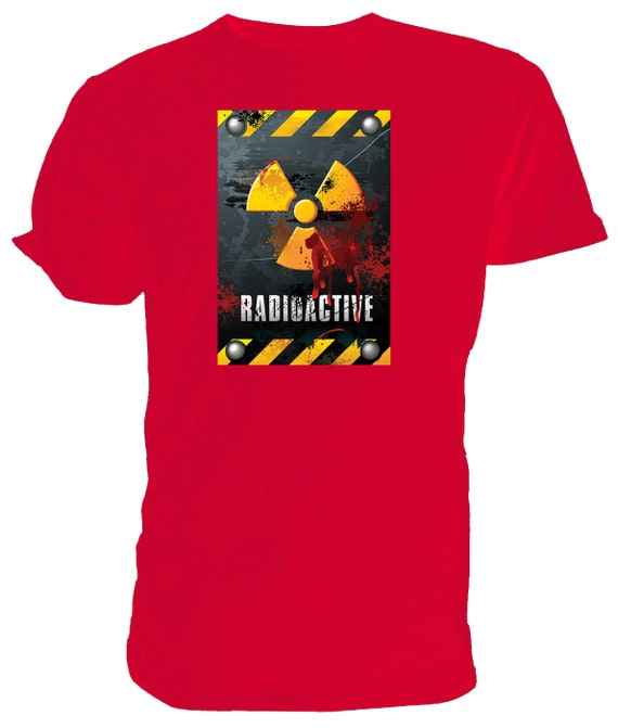 Danger Radioactive T shirt. classic round neck short sleeved choice of sizes and colours