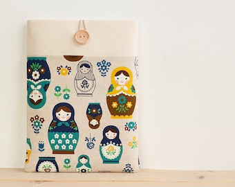 iPad mini cases, iPad mini sleeves, Kindle voyage case Surface sleeve 8 inch Custom Tablet case / Matryoshka Blue