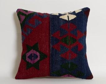 Vintage Kilim Pillow Cover - Bohemian Home Decor Kilim Cushion Cover Shabby Chic Pillowcase Decorative Couch Pillows Old Kilim Pillow