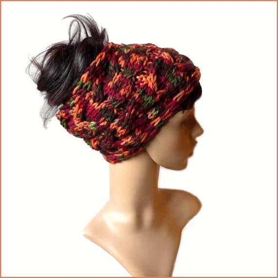 Chunky Cable Knit Headband - Dreadband - Hand Knitted Headband - Ear ...