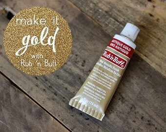 ANTIQUE GOLD Rub 'n Buff Metallic Finish wood and metal repair touch up wood metal furniture frame n craft  finishing AMACO 76361A