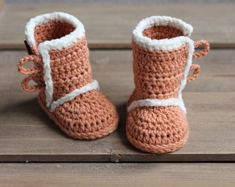 "Crochet Pattern for ""Winter Boots"", PDF pattern, booties, slippers, baby boy or baby girl, cute snowboot Inventorium"