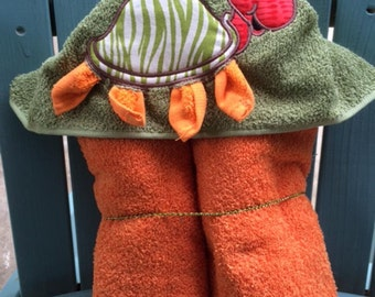 Hooded Towel - Turtle Hooded Towel - Children's Gifts - Hooded Baby Towel - Choose your color - Made to Order