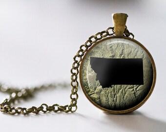 Montana Pendant Necklace - Montana Jewelry - State Pendant - State Necklace - State Jewelry