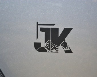 Jeep Wrangler JK with Mountains Decal