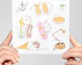 Pastry Pet Sticker Sheet #2