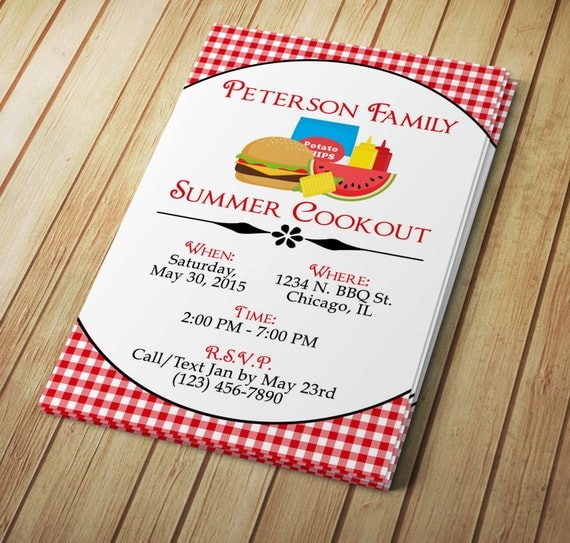 summer cookout invitation editable template microsoft word