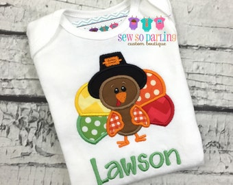 Turkey Baby Outfit - Baby Thanksgiving Outfit - Fall baby bodysuit