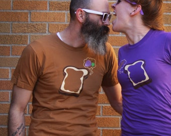 Peanut Butter & Grape Jelly Couple Shirts, Best Friend Shirts