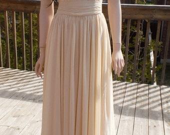 Champagne bridesmaid dress - Long/short available