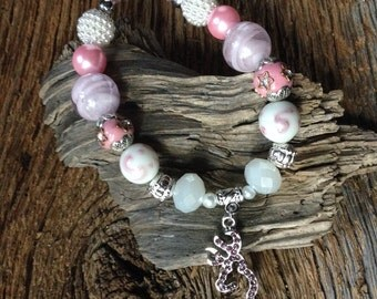 Browning Austrian crystal bracelet: pink crystal Browning deer bracelet