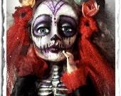 Gothic Art Doll - Sugar Skull - Day of the Dead - Calavera Catrina