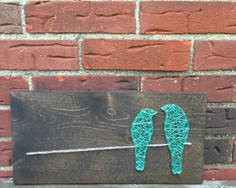 MADE TO ORDER String Art Two Birds on a Wire Sign