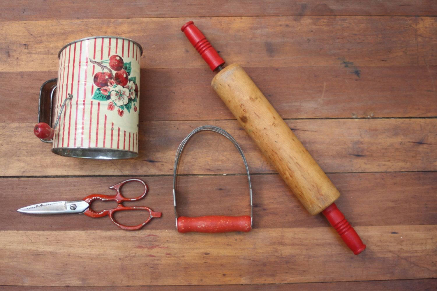 Vintage Collection Red Kitchen Gadgets Rolling By Southerngilt