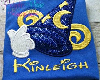 Disney Hollywood Studios Sorcerer's Hat head ruffle tshirt