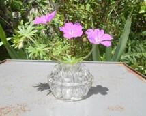 SALE Lovely French Art Deco glass vase, frog vase 1900's flower holder France