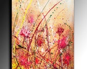 Flawer ABSTRACT PAINTING ACRYLIC Large Abstract 100x80 cm Fine Art Acrylic Abstract Coloured Modern Wall Art Acrylic canvas