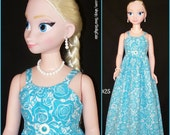 My Size BARBIE Doll, Frozen ELSA & ANNA Tropical Turquoise Maxi Dress