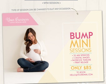 Mini Session Marketing Board / Photography Marketing Board - Photoshop Template for photographers (DM16) - INSTANT DOWNLOAD