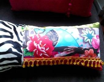 Zebra gipsy patchwork cushion