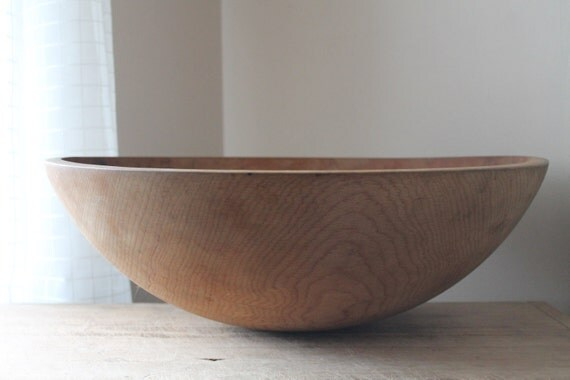 Large out of round wooden bowl inch fruit display