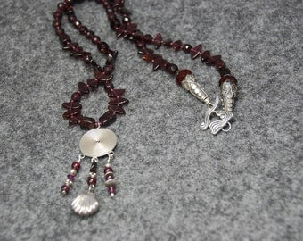 SALE  Deep Rich Garnet Necklace