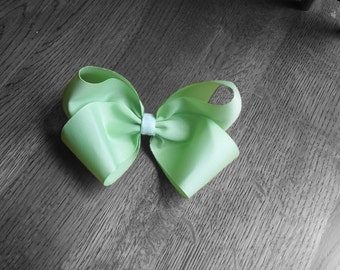 Back to school hair bow - Lime Single Bow