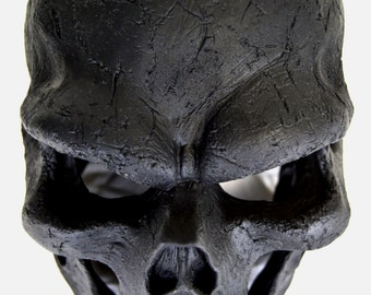 Black Ghost Skull Unpainted - Ghost, Red, Black, Silver