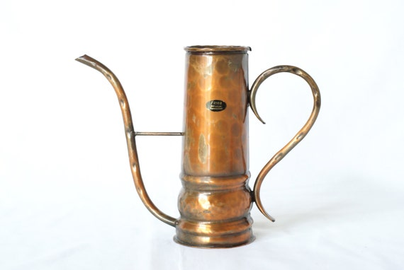 Copper Watering Can Curved Handles Solid Copper By