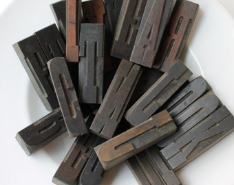 "3.25"" Letterpress Wood Block Letters, sold individually"