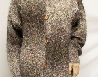 Mohair Sweater, Express Tricot ,Buttoned sweater Coat Jacket