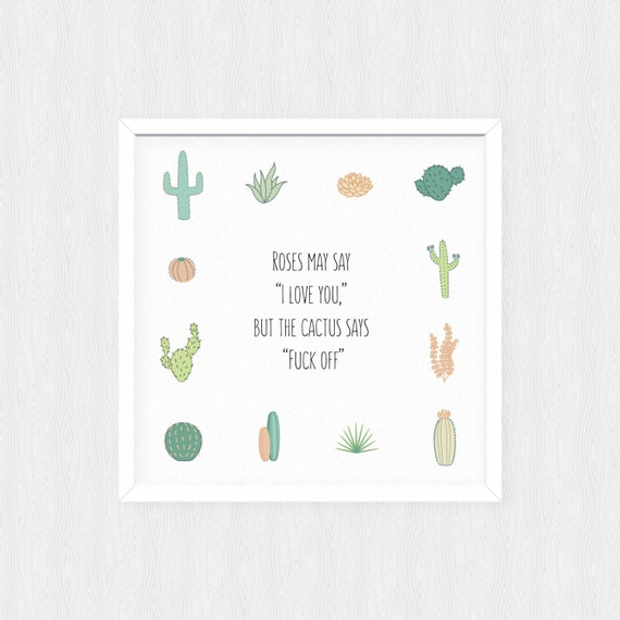 Items Similar To Cactus Quote Printable Wall Art