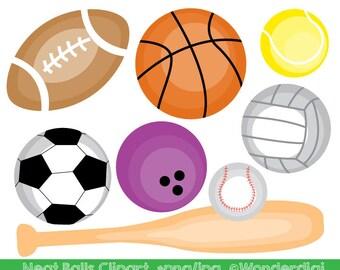 Sports Clipart - Sport Balls Clip art - Kids Clipart - School Clipart - Teacher Clip art