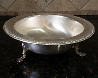 FB Rogers Silver 11.5 inch Bowl Trade Mark 1883 Bowl Sits on 3 Legs