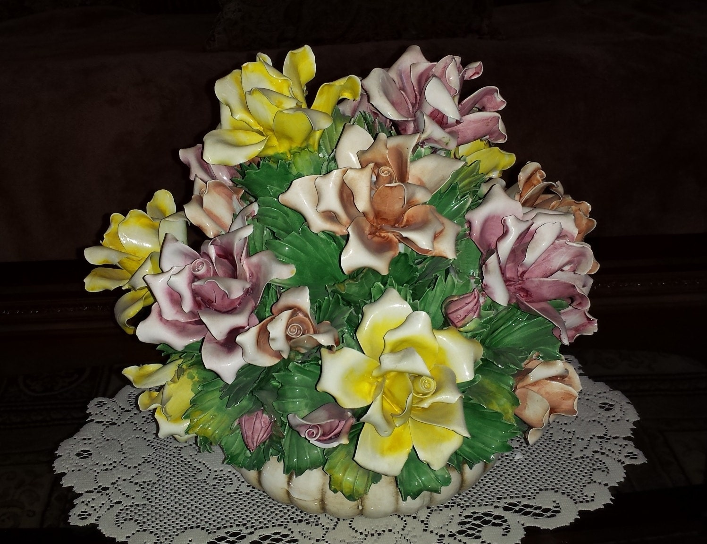 Capodimonte X Large Floral Centerpiece