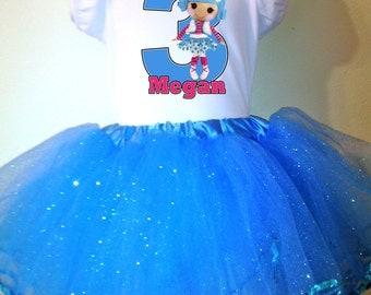 Lalaloopsy Dress Mittens 2 Pc Birthday Tutu outfit 1T,2T,3T,4T,5T,6T,7T,8T