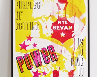 The Purpose Of Power - letterpress poster