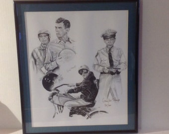 Vintage Limited Edition Art Print Barney Fife, Mayberry 75/100