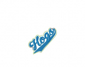 HOGS -  Headband Slip On  - DIGITAL Embroidery DESIGN