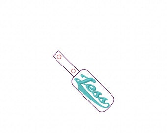 Jess - Name - In The Hoop - Snap/Rivet Key Fob - DIGITAL EMBROIDERY DESIGN