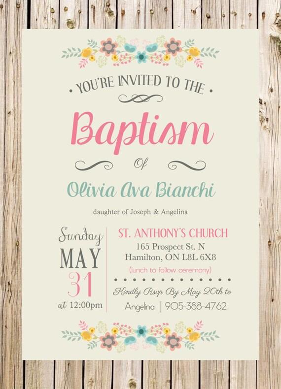 baptism invitation christening church ceremony by