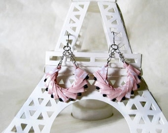 Origami Jewelry -  Geometric Paper Earrings - gift for her - Paper Jewelry - Origami Earrings - WY06