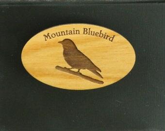 Original Design Mountain Bluebird Wood Magnet