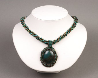 Forest Spirit Kumihimo Necklace