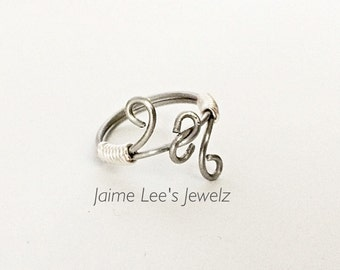 Trendy Silver Ring, Silver Knot Ring, Twisted Silver Ring, Wire Wrapped Ring, Twisted Knot Ring, Everyday Ring, Gift For Her