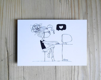 "Postcard ""computer Love"""