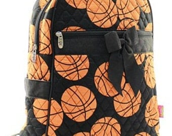 Personalized Quilted Basketball Backpack
