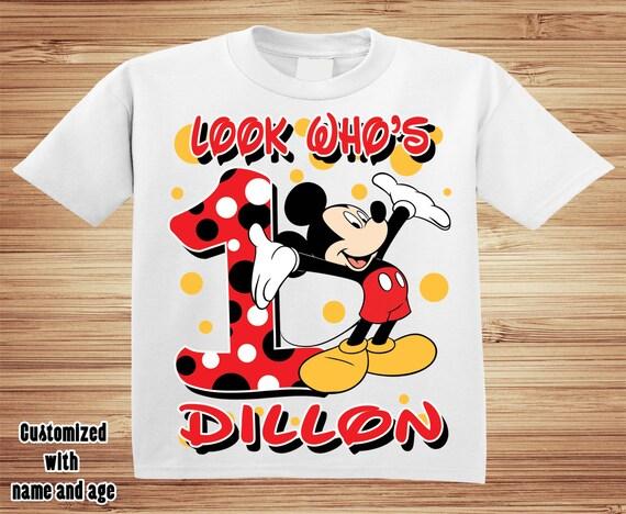 Personalized Mickey Birthday T Shirt - Disney, Clubhouse, Minnie, Goofy